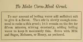 Corn-Meal Gruel receipt