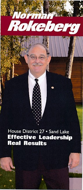 A campaign flyer for Norman Rokeberg from 2002