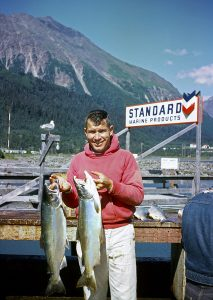 Dude Obert in Seward, 1962.