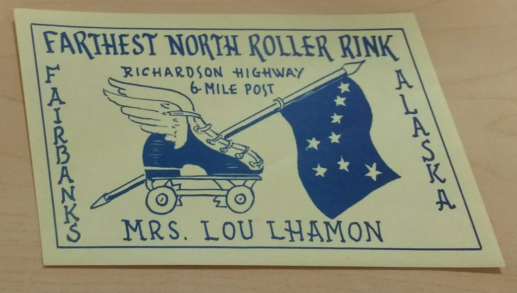 Farthest North Roller Rink sticker