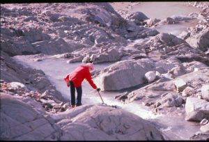 Walking on Mendenhall Glacier