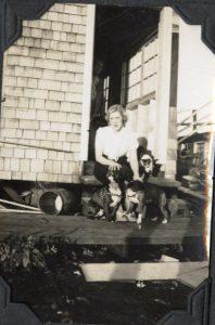 Alma Davis Edington with dogs